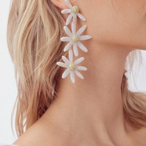 Lucite Daisy Earrings